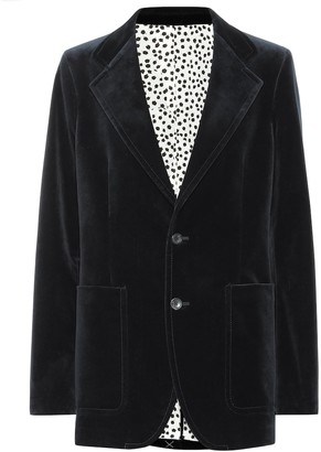 Joseph Albert stretch-velvet blazer