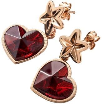Baccarat Rose Gold Vermeil and Crystal Etoile de Mon Coeur Earrings