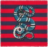 Gucci Kingsnake print silk scarf
