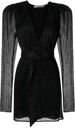 Reinaldo Lourenço Lame Detail Mini Wrap Dress