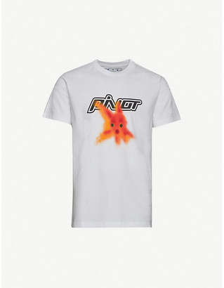 Off-White Off White Plastic Fish Cotton-Jersey T-Shirt