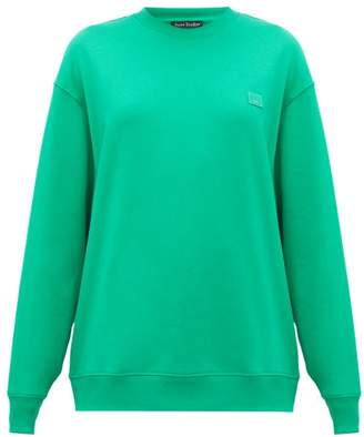 Acne Studios Forbra Face Cotton Sweatshirt - Womens - Green
