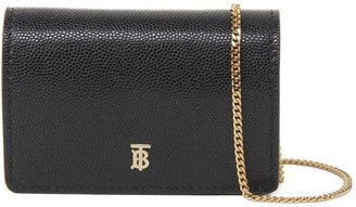 Burberry Black Credit Card Holder In Grained Leather