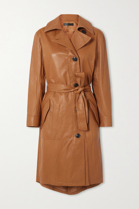 Rag & Bone Belted Leather Trench Coat - Beige