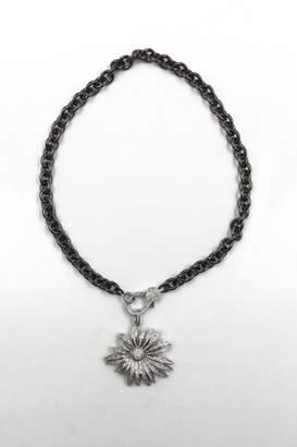 Private Label Sapphire Sky Pave Starburst Necklace