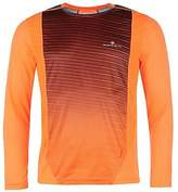 Ronhill Ron Hill Mens Running Top Lightweight Mesh Sports Long Sleeve Crew Neck Tee