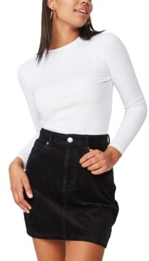 Cotton On Woven Havana Cord Mini Skirt
