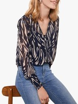 Mint Velvet Sara Animal Print Blouse, Multi