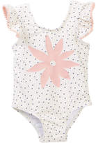 Jessica Simpson Insignia Blue Dot One Piece Swimsuit (Baby Girls)