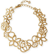 Oscar de la Renta Intertwined Floral Statement Necklace