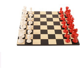 Purling London - Bold Chess Set - Classic Red - v Gloss White