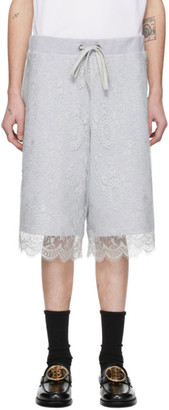 Burberry Grey Chantilly Lace Shorts