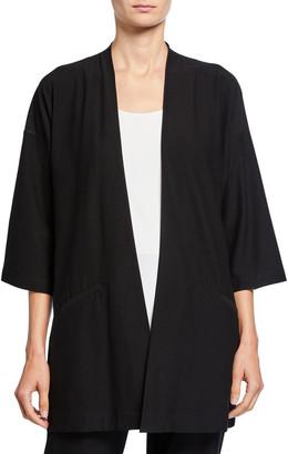 Eileen Fisher Washed Crepe Kimono Jacket