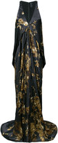Vera Wang ormalu printed draped gown