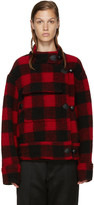 Etoile Isabel Marant Black and Red Fred Coat