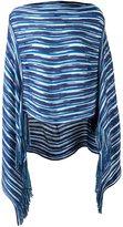 Missoni striped pattern knit poncho
