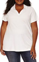 ST. JOHN'S BAY St. John's Bay Short-Sleeve Polo - Plus