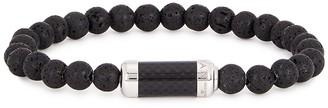 Tateossian Montecarlo medium black lava bead bracelet