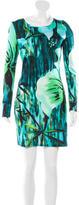 Matthew Williamson Printed Long Sleeve Dress