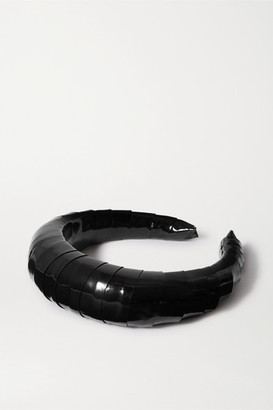 LELET NY Patent-leather Headband - Black