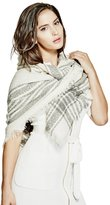 GUESS Women's Square Plaid Scarf