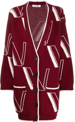 Valentino Logo Detail Cardi-Coat