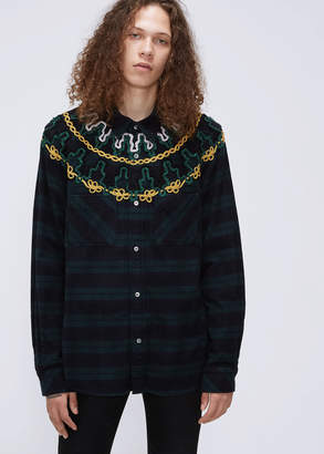 Sacai Embroidery Check Shirt