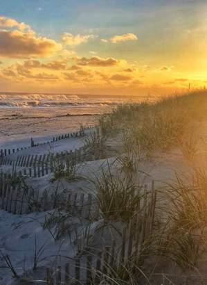 Fall Beach at Sunset