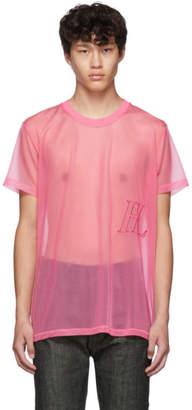 Helmut Lang Pink Organza Masc Little T-shirt