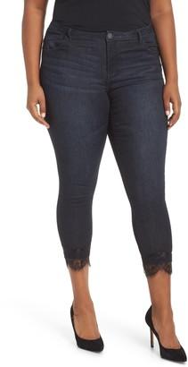 Wit & Wisdom High Waist Lace Trim Ankle Skinny Jeans