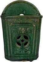 One Kings Lane Vintage Hunan Green Glazed Wall Vase