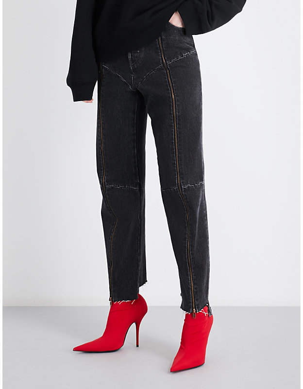 Vetements x Levi's biker high-rise jeans