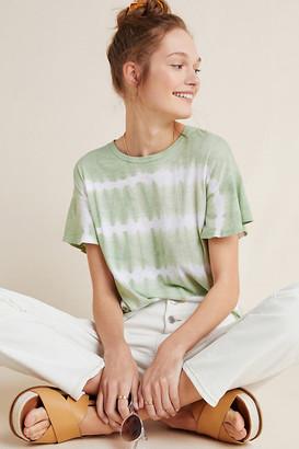 Martha Flutter-Sleeved Tee By T.La in White Size XS