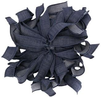 Piccola Ludo Denim Floral Brooch