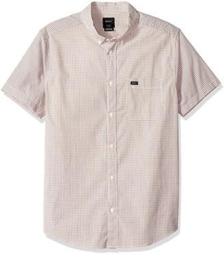 RVCA Men's Staple Short Sleeve Woven Button Front Shirt