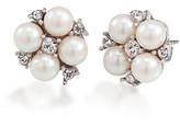 Carolee Silvertone Small Cluster Button Earrings