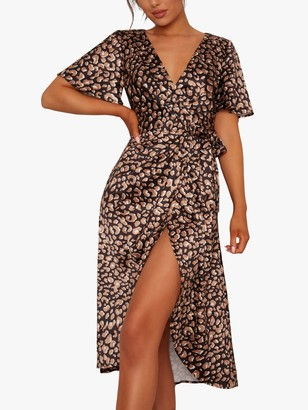 Chi Chi London Melissa Animal Print Dress, Multi