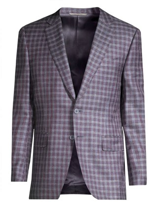Canali Plaid Wool, Silk & Linen Sportcoat