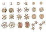 Charlotte Russe Embellished Starburst Stud Earrings - 12 Pack
