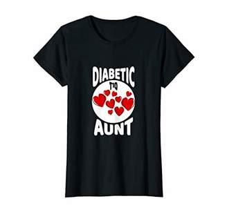 Womens Diabetic Aunt Shirts T1D Auntie Support T-Shirt