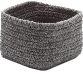 Colonial Mills Dark Gray Shelf Square Basket