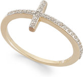 Wrapped wrappedTM Diamond Cross Ring in YellOraTM
