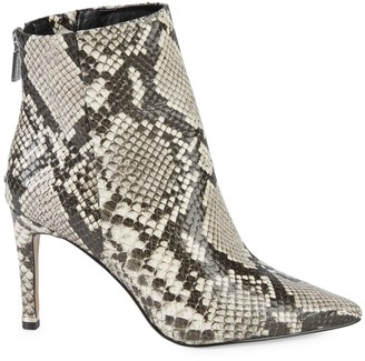 Kenneth Cole New York Raine Snakeskin-Embossed Ankle Boots