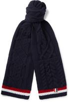 Thom Browne Striped Aran Merino Wool Scarf