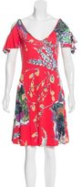 Just Cavalli Abstract Print Off-The-Shoulder Dress