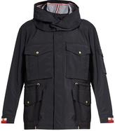 Moncler Gamme Bleu Drawstring-waist lightweight hooded field jacket