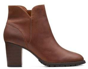 Clarks Verona Trish Heeled Leather Booties