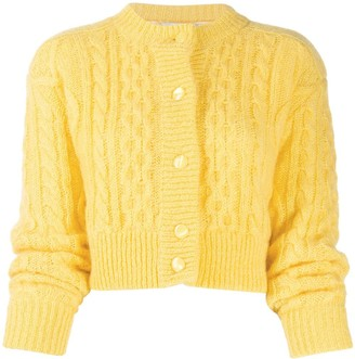 Laneus Cable-Knit Cardigan