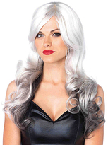 Leg Avenue Gray & Black Allure Wavy Costume Wig
