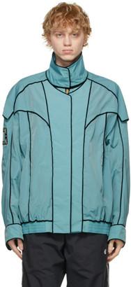 we11done Blue Velvet Trim Bomber Jacket